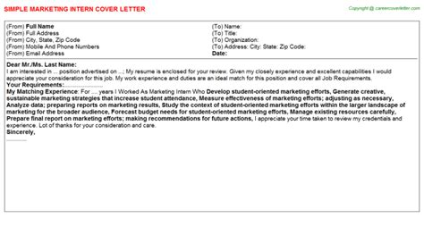 Marketing Trainee Cover Letter by Marketing Intern Cover Letters Sles Descriptions And Duties