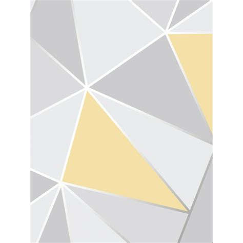 strum pattern for grey foggy day apex geometric wallpaper yellow and grey fine decor fd41991
