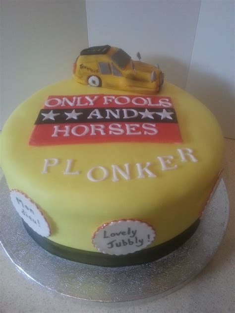 gary s only fools and horses themed birthday cake