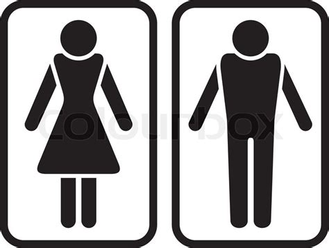 male female bathroom sign images m 228 nnchen stock vektor colourbox