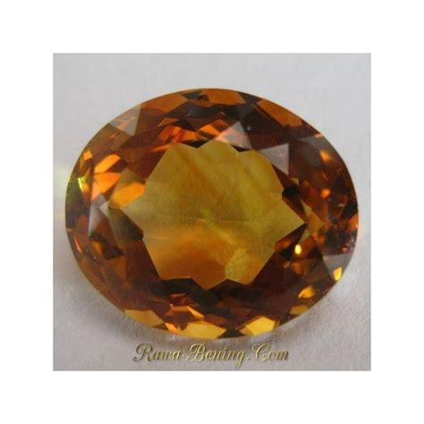 Kecubung Kalimantan Air Hq Luster 1420 batu permata yellowish orange citrine 10 94 carat oval cut hq