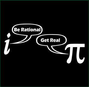 rational  real  shirt funny math nerd geek math