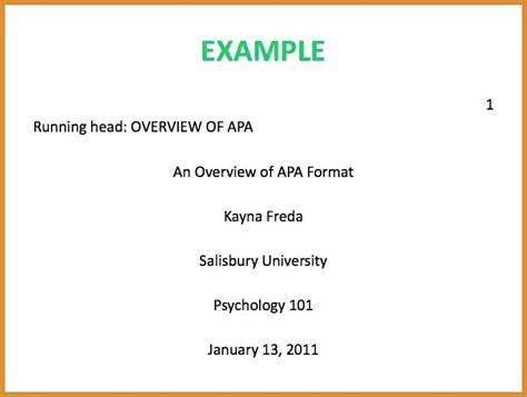 apa style 6th edition exle paper tomyumtumweb