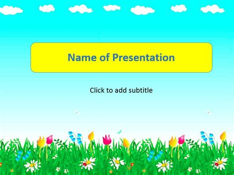 free powerpoint templates for kids free children
