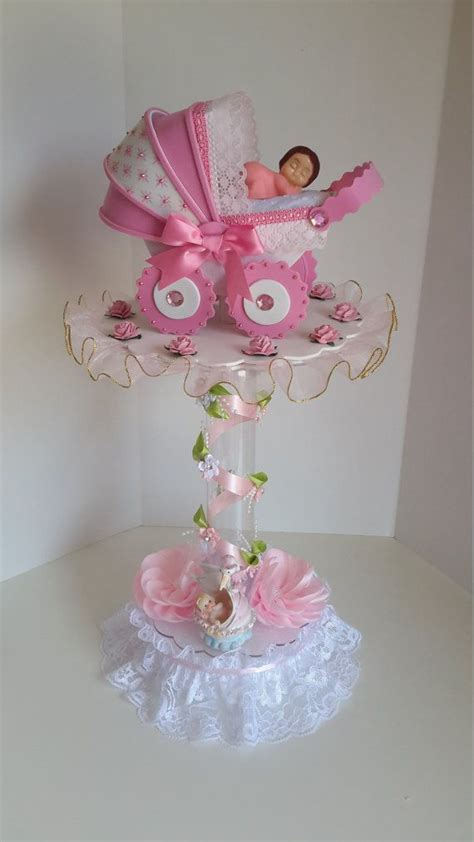 rosa centro de mesa para baby shower baby shower ideas babies babyshower and