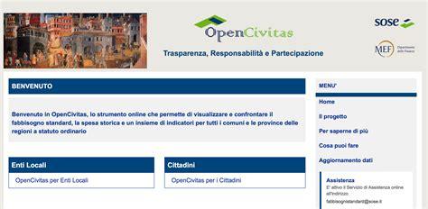 ministero dell interno home page come spendono gli enti locali on line su opencivitas