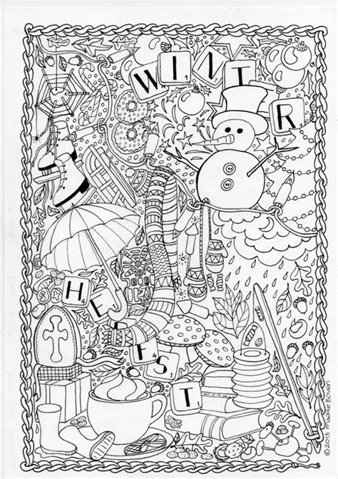 intricate winter coloring pages mumsboven tekeningen adult coloring pinterest blog