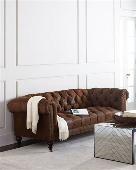 suede chesterfield sofa hickory tannery rustic suede chesterfield sofa