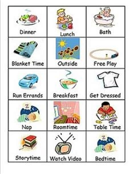 printable daily schedule for autistic child 5 best images of free printable visual schedule free