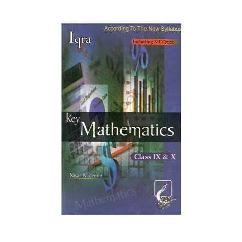 Aptitude Test For Mba In Iqra by Key Mathematics Including Mcqs For Class Ix X By Nisar