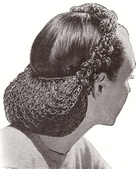 pattern for snood hair net vintage crochet pattern snood hair net head band 1940s