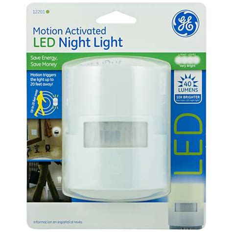 ge snowflake motion lights ge white motion activated led night light 9f200 ls