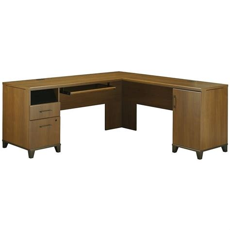 l shaped computer desks bush achieve 70 quot l shape warm oak computer desk ebay