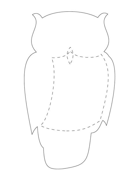 large printable owl body animal tote craft owl templates owl and templates