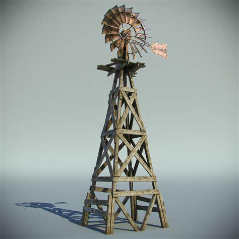 Kitchen Designers Jobs by Old Farm Windmill 3d Model Max Obj Fbx Cgtrader Com