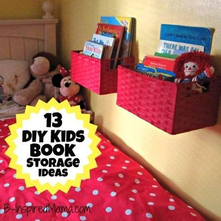 25 best ideas about kid book storage on pinterest book a diy wall book display with baskets 12 more kid s book