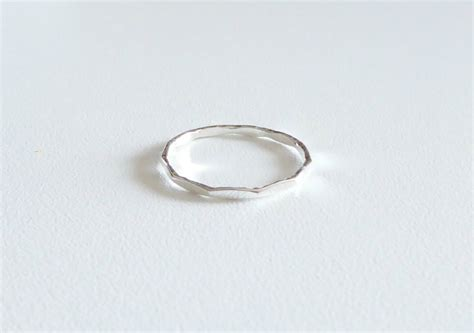 sterling stacking ring 1 mm sterling silver ring silver