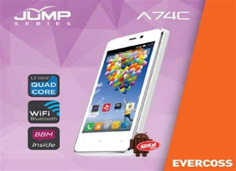 Evercoss A74c evercoss a74c jump ponsel android rp 500 ribuan telset