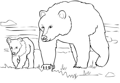 Grizzly Bear Coloring Pages Grizzly Coloring Page