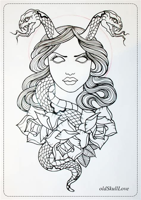 tattoo design outlines the gallery for gt skull and rose outline