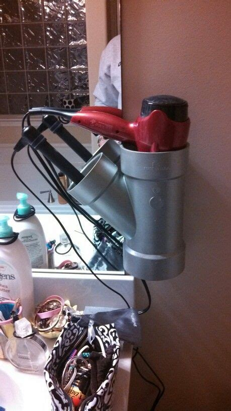 Hair Dryer Straightener Holder Diy diy holder for curling iron and dryer i made today i was tired of tripping the hair