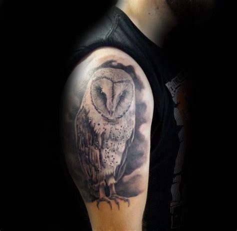 nice shoulder barn owl tattoo golfiancom