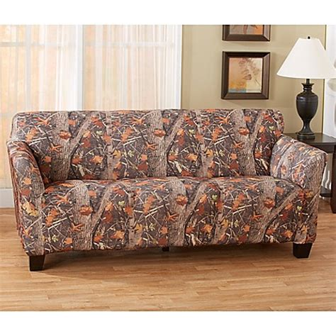 camo furniture slipcovers great bay home kings strapless slipcover sofa in camo
