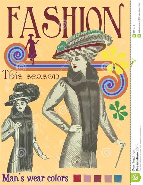fashion illustration magazine vintage fashion magazine cover illustration stock
