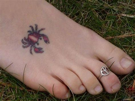 cancer crab tatto on foot