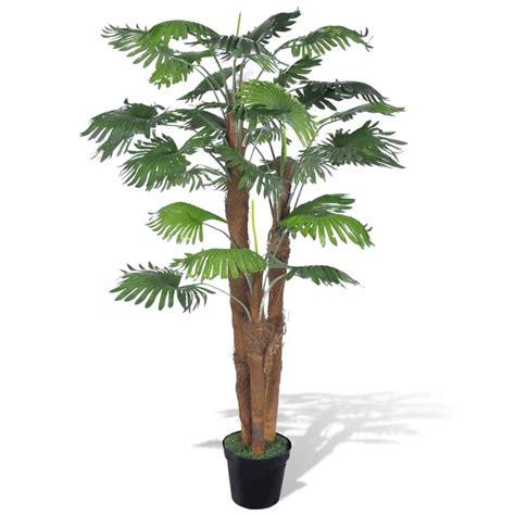 artificial fan palm tree  pot  vidaxlcom