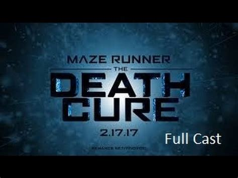 Maze Runner Cure 3 the maze runner the cure cast