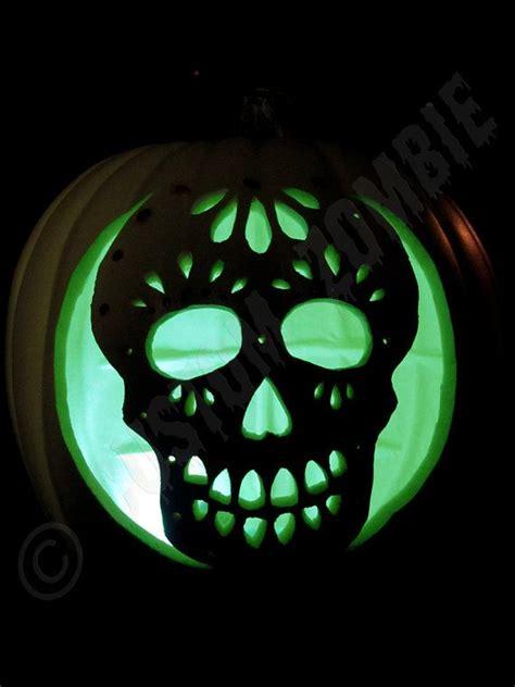 pumpkin stencil sugar skull carving crafts downloadable pumpkins jack o connell and