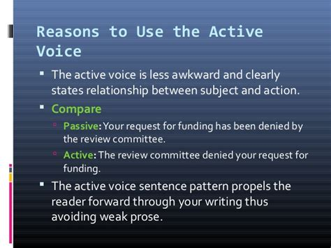 pattern active voice active and passive voice