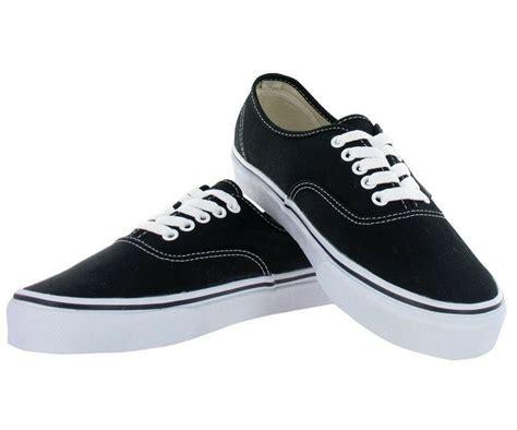 vans authentic black white mens womens canvas shoes