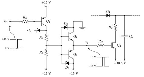 gate driver transistor level shifted push pull gate driver speed problems electrical engineering stack exchange