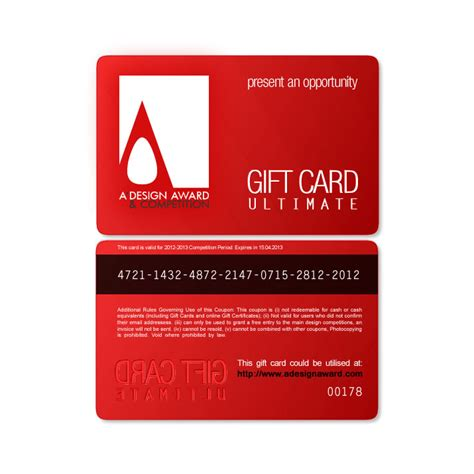 Customize Gift Card - a design award and competition gift cards