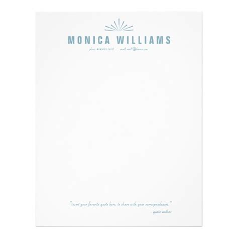 personalized letterhead templates starburst quote personalized stationery letterhead zazzle