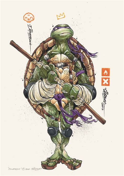 graffiti styled teenage mutant ninja turtles fan art by