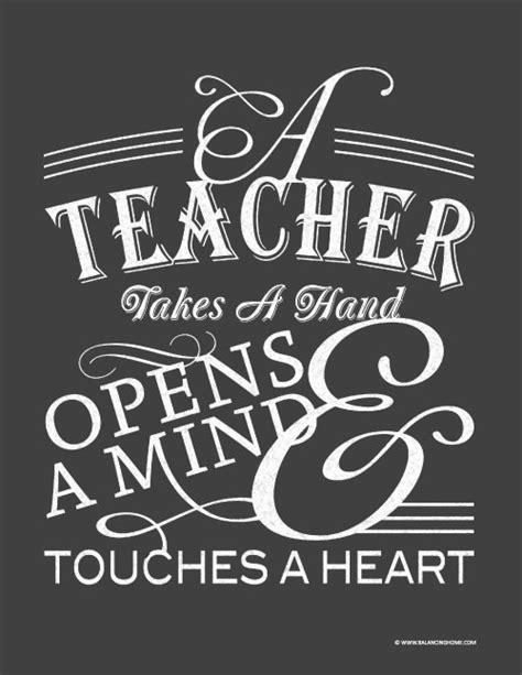 printable quotes for teachers teacher appreciation quote to print and frame free