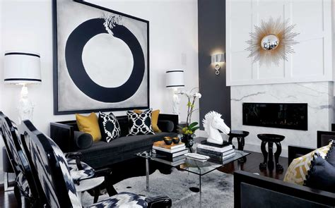 Black And White Living Room by Black And White Living Room Decoration