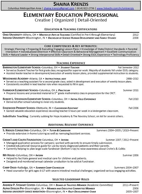Resume Sles For Special Education Teachers Assistants Special Education Assistant Resume Best Letter Sle