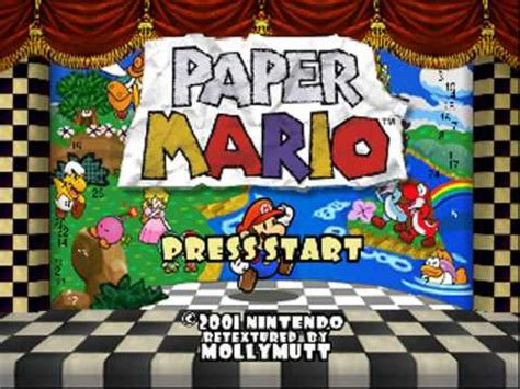 Home Interior Party paper mario n64 emulator high res texture pack intro