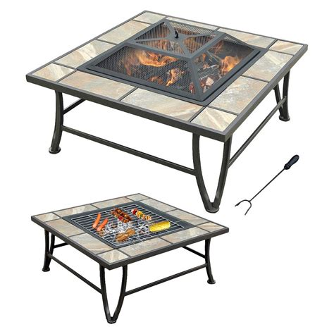 ceramic firepit ceramic tile pit with grill pit design ideas