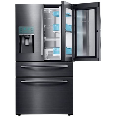 black samsung door refrigerator samsung 23 6 cu ft food showcase 4 door door