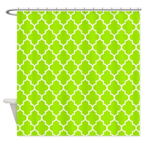 lime green quatrefoil shower by inspirationzstore