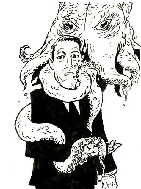 H P Lovecraft Sketches by H P Lovecraft Ink Sketch By Kurtbelcher1 On Deviantart