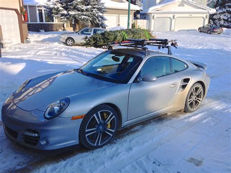 porsche with christmas tree ski rack christmas tree hauling with turbo rennlist