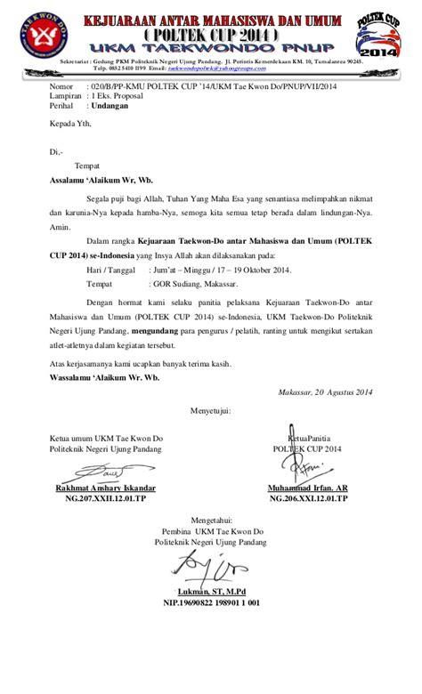 Surat Pengantar Sponsor by Surat Pengantar Undangan