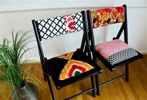 diy folding chair colorfully upholstered folding chairs