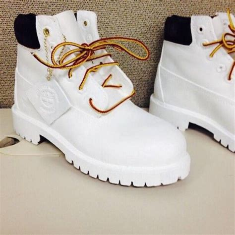 white timberlands boots timberland s custom waterville boot shoes boots